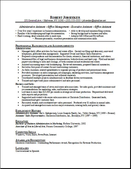 Office+administrator+resume+templates