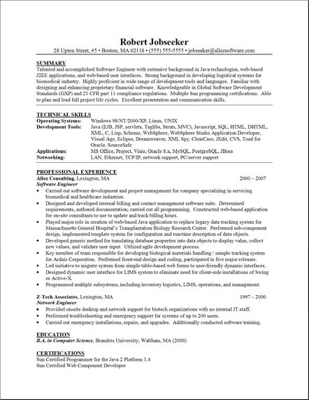 resumes format samples. Sample Functional Resume