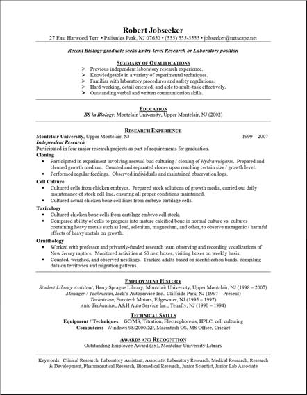 Sample Resume Formats