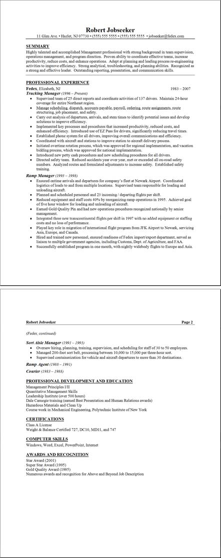 resumes format samples. Sample Resume Templates
