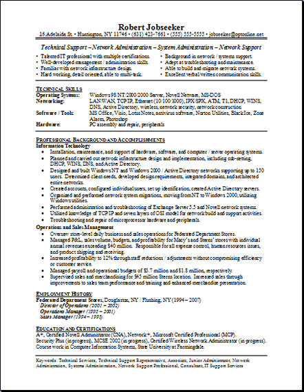 resume examples for students. Functional resume sample