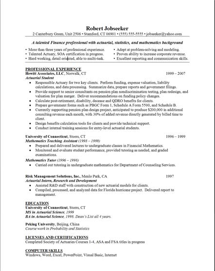 Skills on resume example