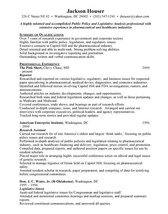 Reporting Sample Resume | Example | Template