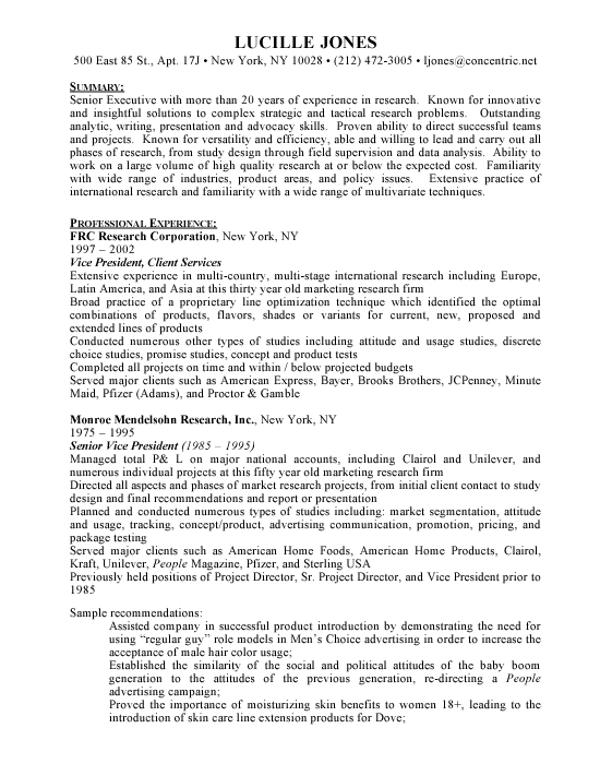 Research Director Sample Resume | Template | Example