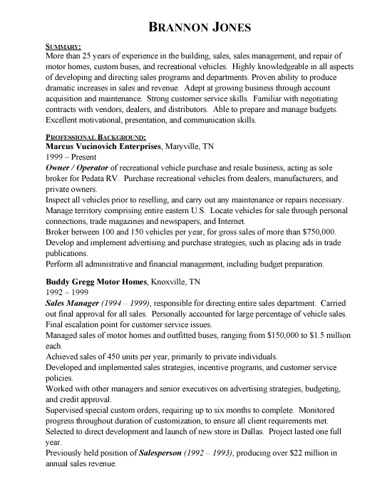 resume sample 13 sales marketing resume career a good
