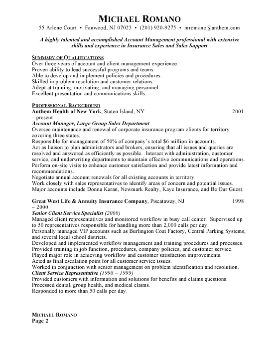 Account Manager Resume Examples Free Resumes Free Resumes